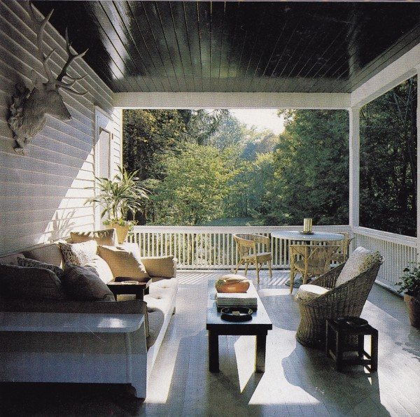 Albert Hadley's Tarryington, New York, country house, 1985. Photo by William P. Steele.