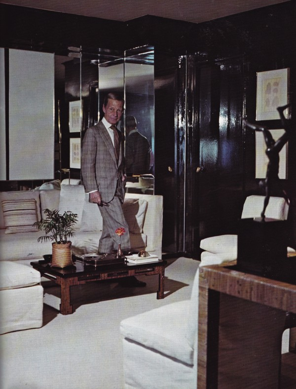 Billy Baldwin'sbenchmark midtown apartment in New York City, 1973.