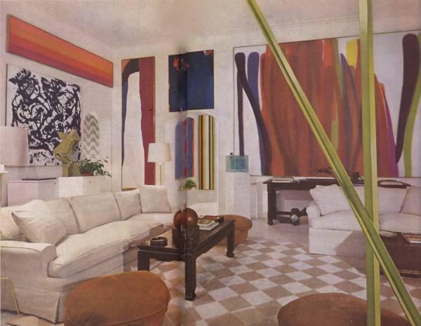 Decades later, this room Baldwin designed for S. I. Newhouse still feels stylish and relevant.
