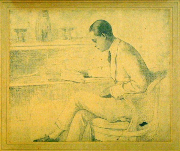 Paul Rodocanachi, Portrait of Bertie Landsberg, 1912