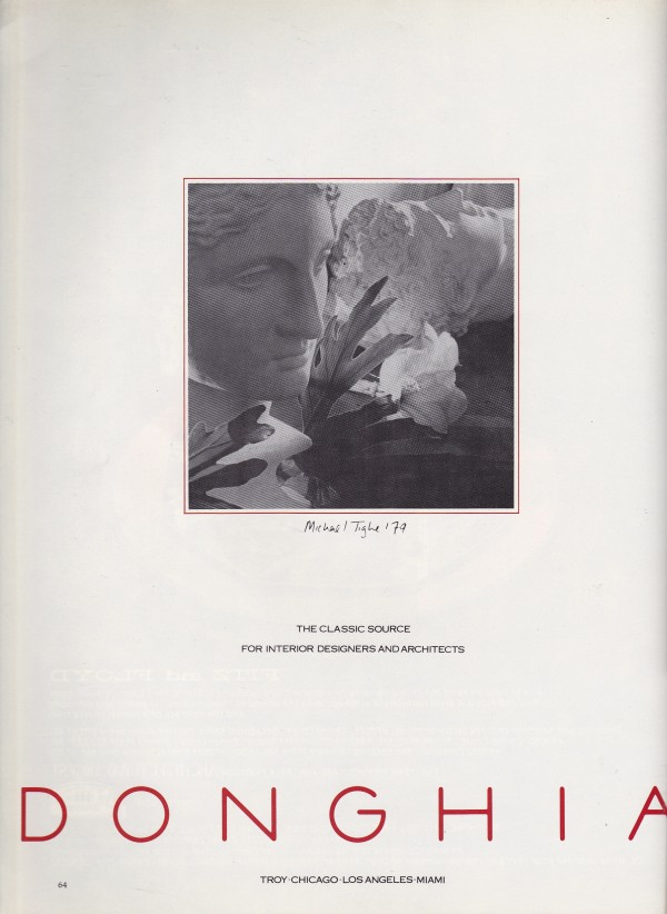 Donghia ad - AD 1980
