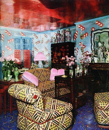Angelo Donghia NY townhouse garden room 1960's