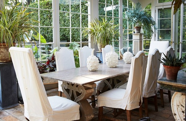one kings lane_bunny williams_CONSERVATORY DINING TABLE