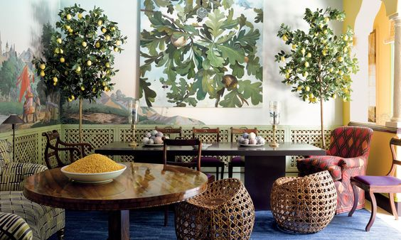 Jeffrey Bilhuber-Palm Beach dining room-Morrocan style-William Abranowicz photographer