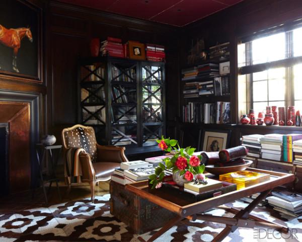 Library--Melinda Ritz-Elle Decor-April 2012