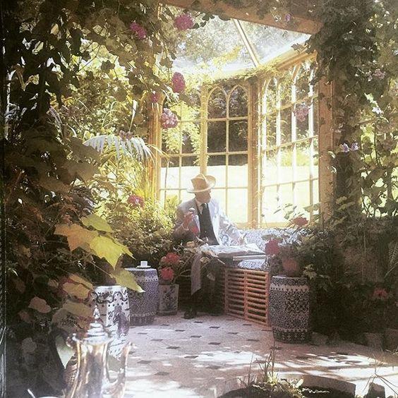 Cecil Beaton- Reddish House solarium-1968