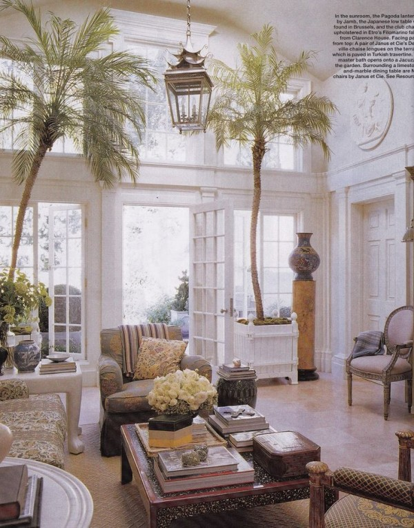 Michael S. Smith house-Beverly Hills-winter garden-Elle Decor